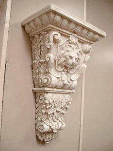 Corbel Polyurethane Decorative 20 Quot Lion Head W Ecan Leaf