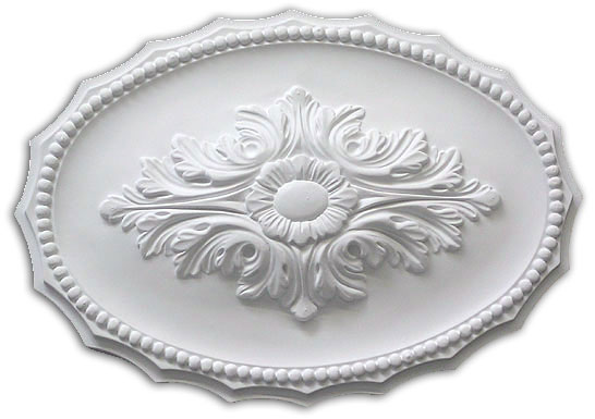 Ceiling medallion polyurethane decorative fdcb 2012 for Architectural medallions exterior
