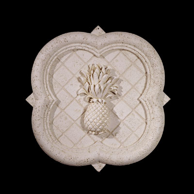 Polyurethane Decorative Rosettes Diamond Back Wall Plaque