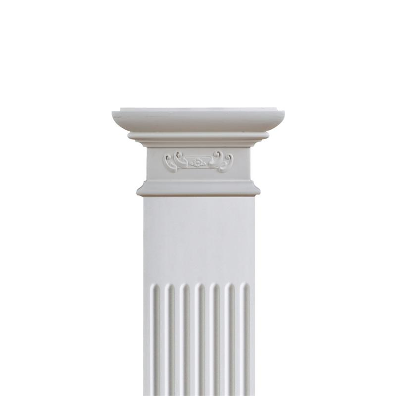 8 Rosette Column Set Polyurethane Decorative Fdc 6047e