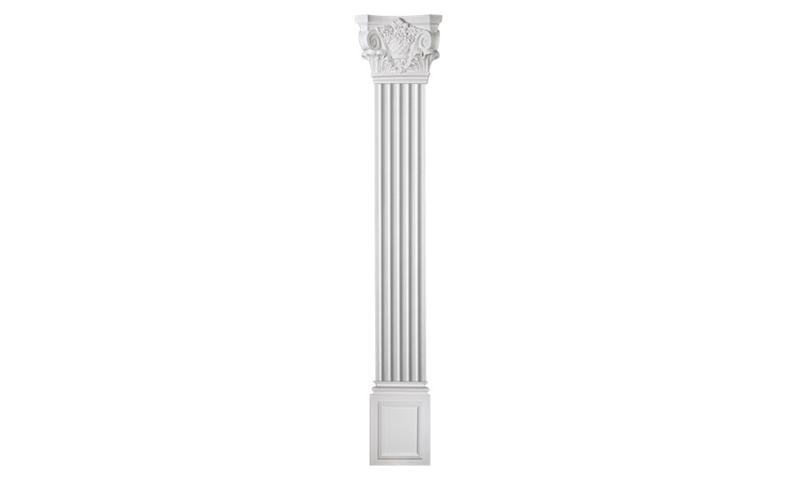 12 Corinthian Flat Column Set Polyurethane Decorative