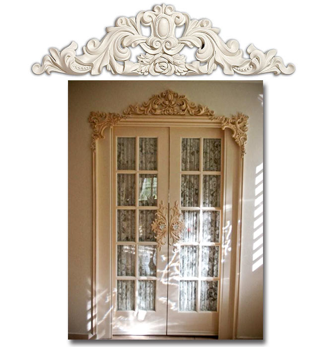 Door topper fdcet 2833 for Over door decorative molding