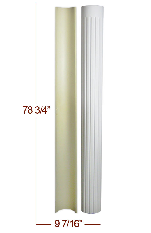 9 Diameter Polyurethane Decorative Smooth Half Column X
