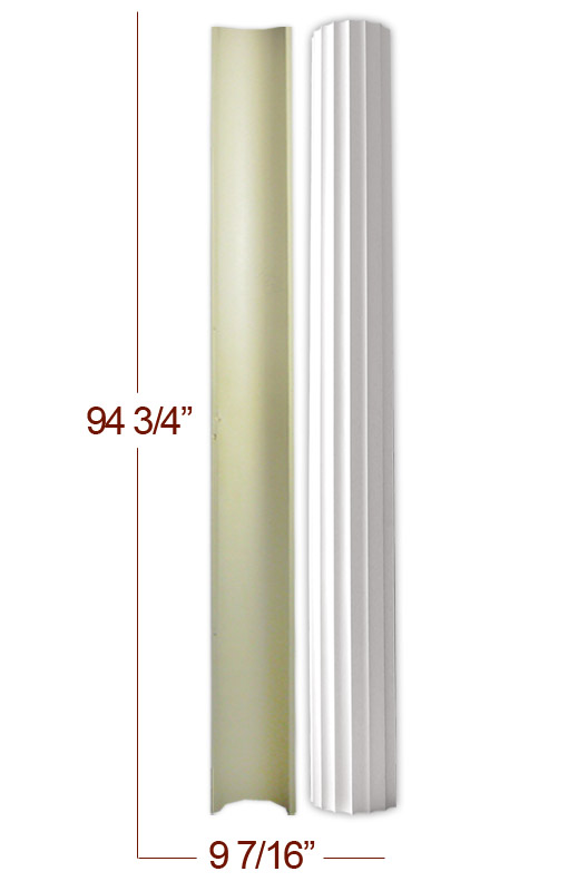 9 Diamter Polyurethane Decorative Half Column Shaft X 94