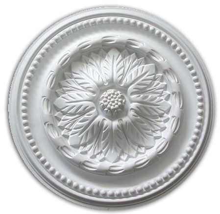 Ceiling medallion polyurethane decorative fdcmd 5344 for Architectural medallions exterior
