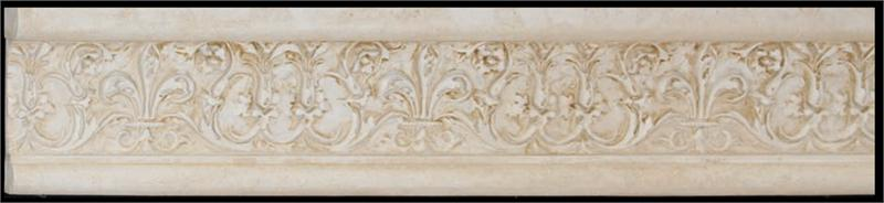 Deco Smooth Stone Fleur De Lis Polyurethane Decorative