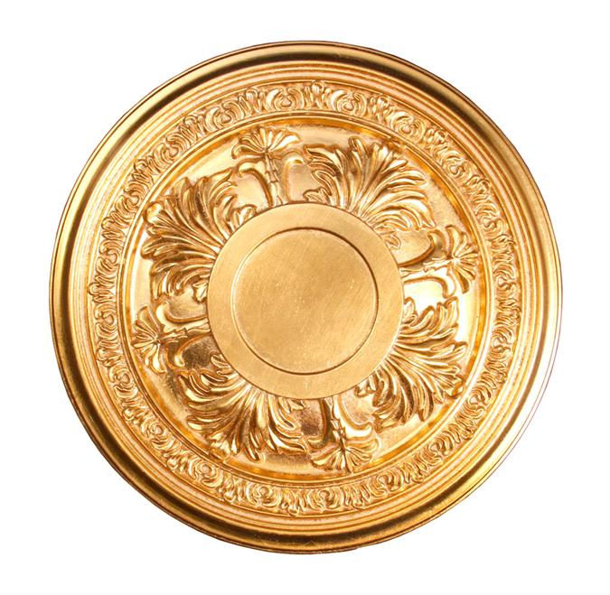 Ceiling medallion polyurethane decorative fdc 0362 gold for Architectural medallions exterior