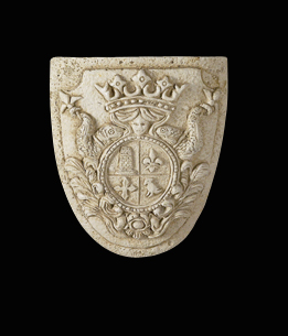 "Polyurethane Decorative 6½"" Crest Shield FDC 947"