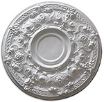 Ceiling medallion polyurethane decorative fdcb 3008 for Architectural medallions exterior