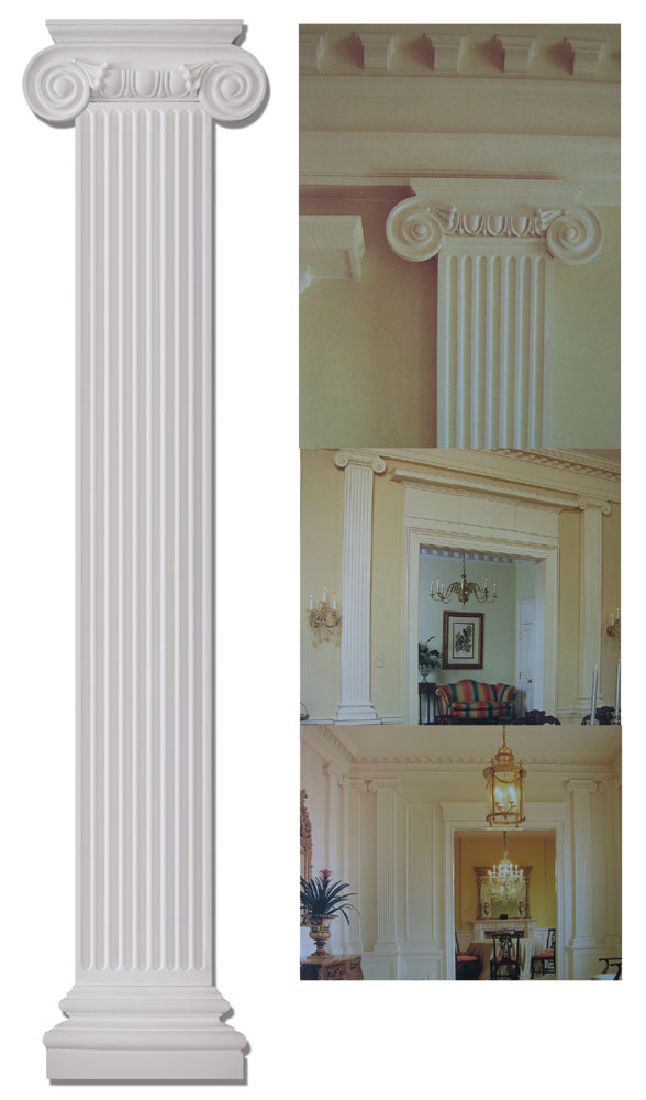 9 8 Quot Wide Flat Ionic Column Set Fdc 6086