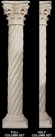 Twist Rope Column 6 Quot W X 106 190 Quot H Shaft W Corinthian Top