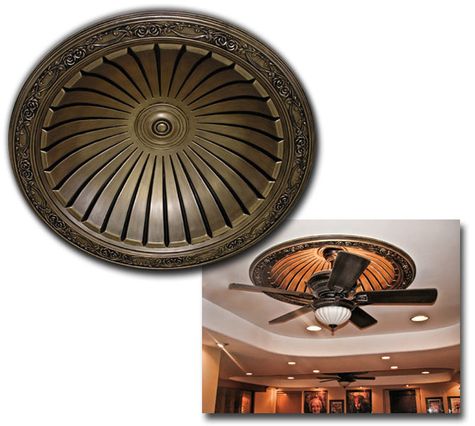 Concrete Dome Home Kits: Ceiling Dome Polyurethane Decorative FDC 9101