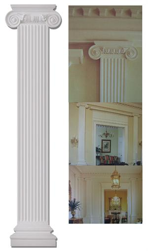9 8 Wide Flat Ionic Column Set Fdc 6086