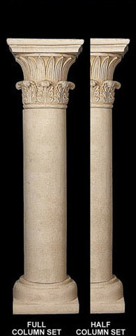 Fine Sand Stucco Smooth Column Shaft With Temple Of Winds