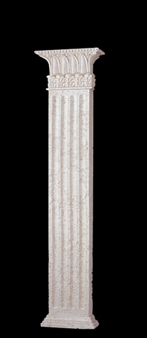 Square Column 8 Quot 3 Sided Rectangular Fluted Wall Column