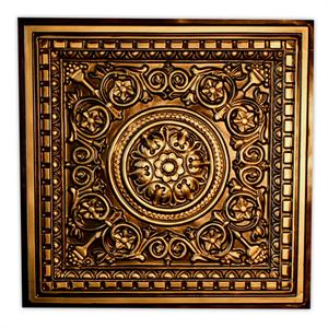 "Ceiling Tiles 1"" Relief Tile FDCVC02 - Antique Gold"