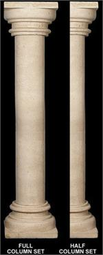Fine Sand Stucco Smooth Column 6 Quot W X 110 Quot H Fdc 1029