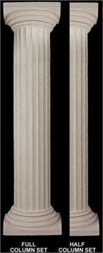 Fine Sand Stucco Smooth Fluted Column 8 Quot W X 103 189 Quot H Shaft