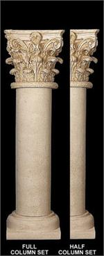Fine Sand Stucco Smooth Column Shaft With Corinthian Top